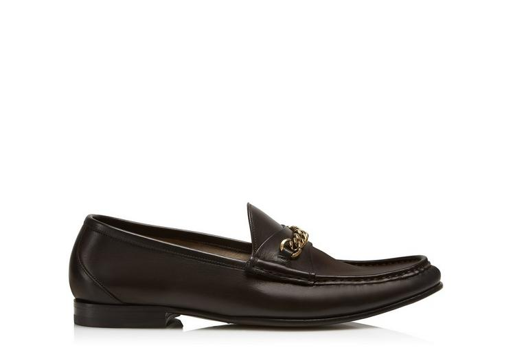 LEATHER YORK CHAIN LOAFERS A fullsize