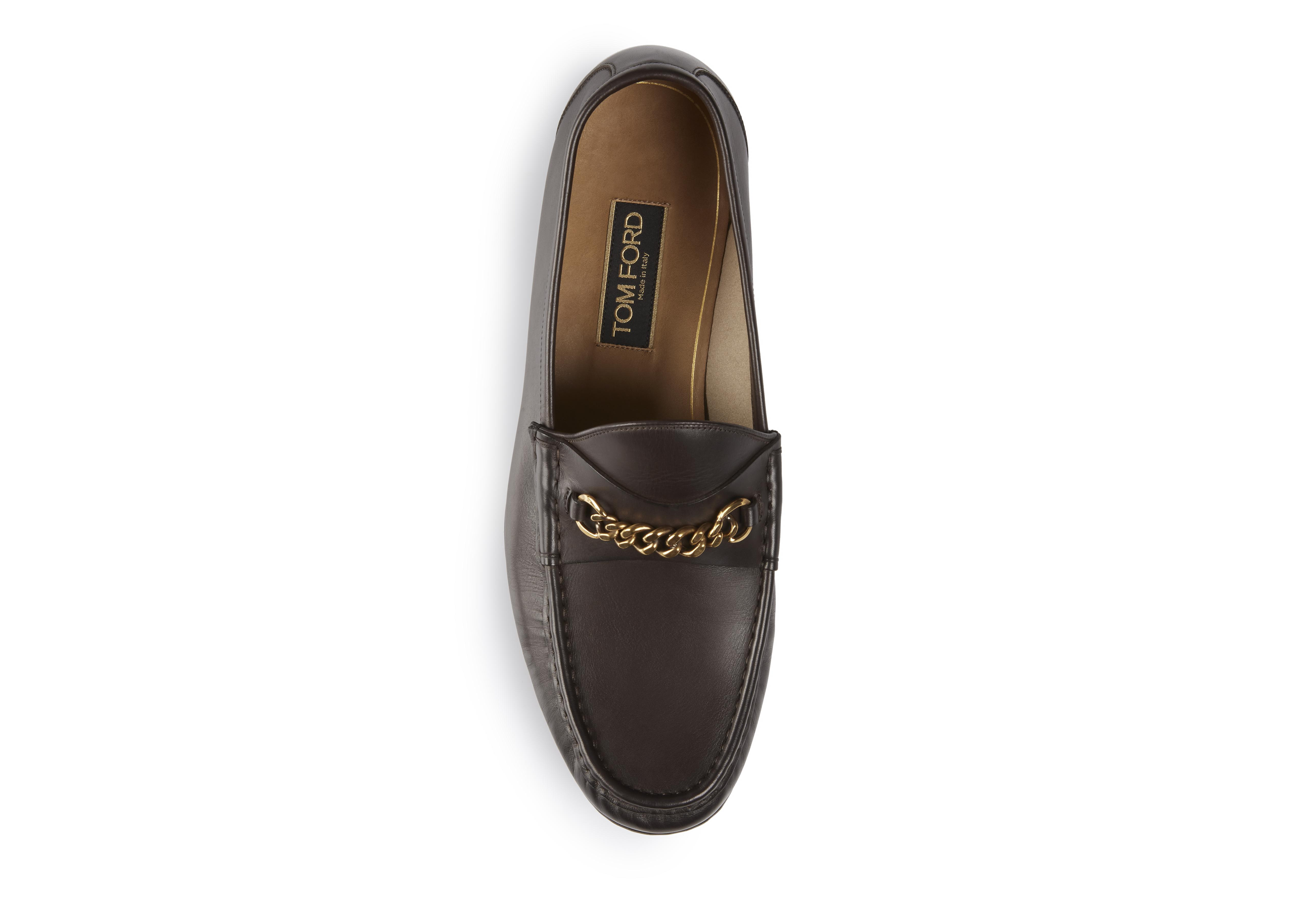 LEATHER YORK CHAIN LOAFERS B thumbnail