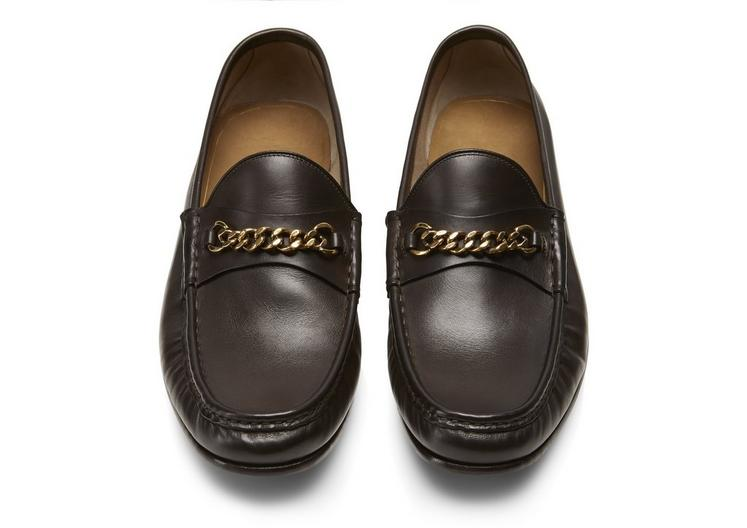 LEATHER YORK CHAIN LOAFERS C fullsize