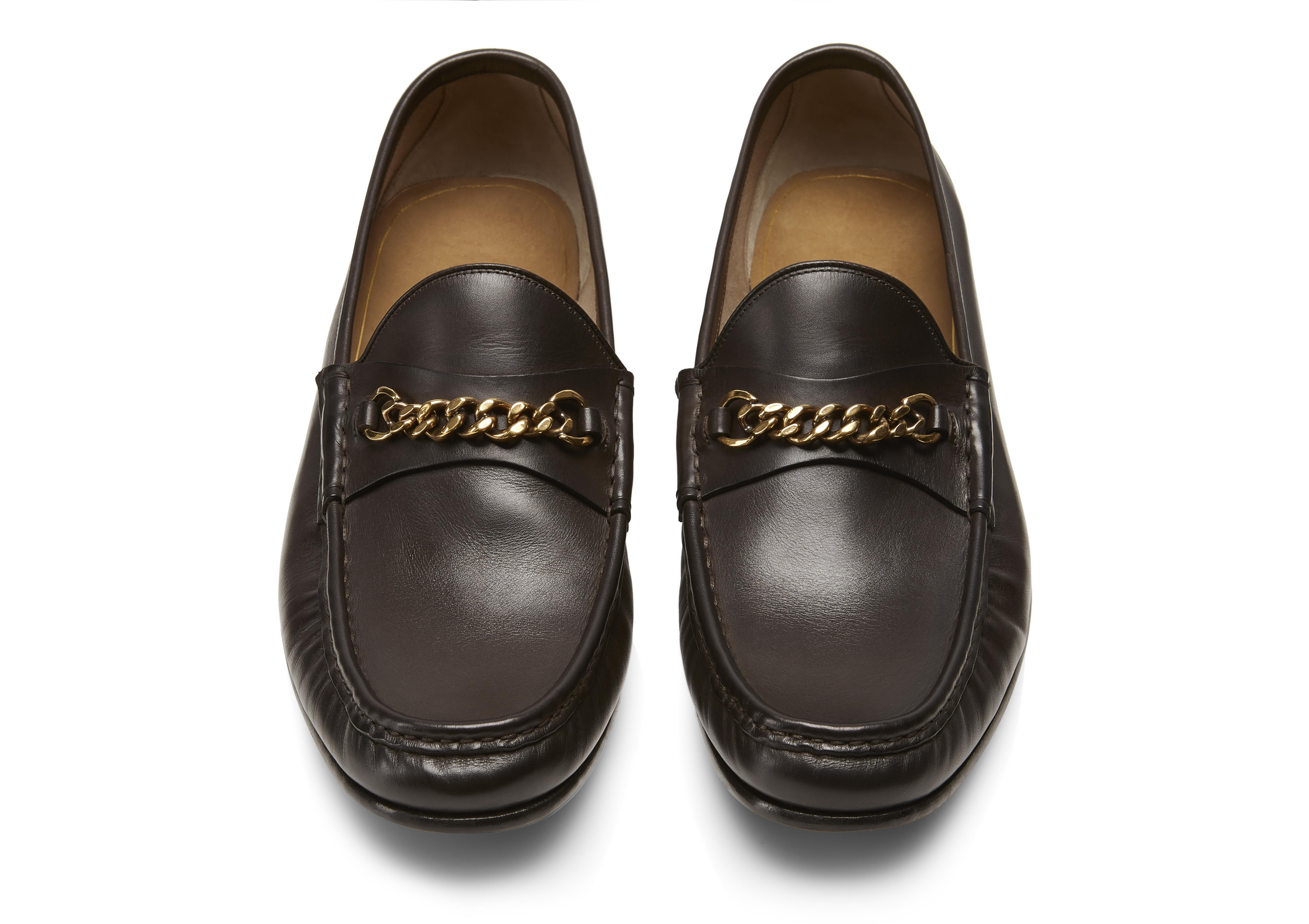 LEATHER YORK CHAIN LOAFERS C thumbnail