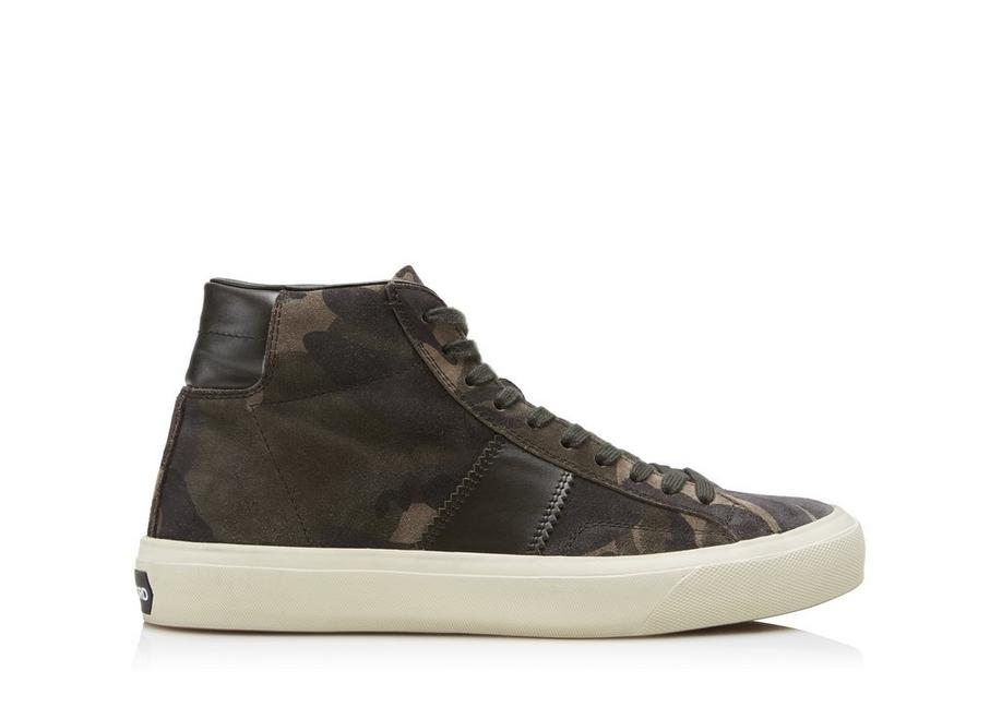 CAMOUFLAGE CAMBRIDGE HIGH TOP SNEAKERS A fullsize