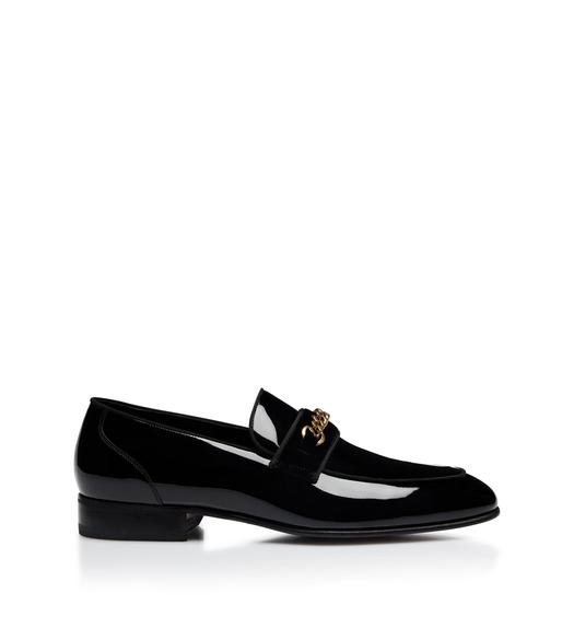 PATENT LEEDS CHAIN LOAFERS