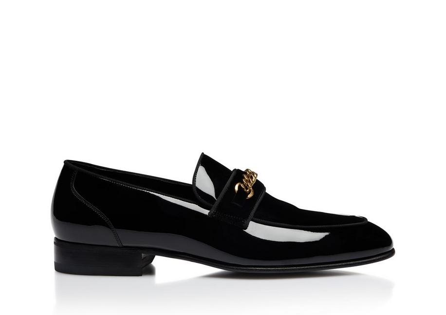 PATENT LEEDS CHAIN LOAFERS A fullsize