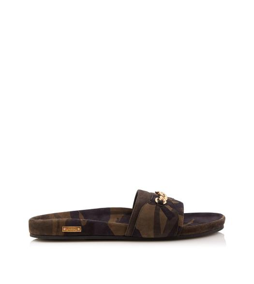 CAMOUFLAGE CHURCHILL CHAIN SANDALS