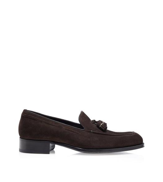 SUEDE EDGAR TASSEL LOAFERS