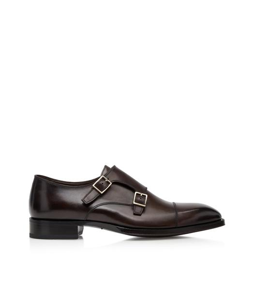 BURNISHED ELKAN DOUBLE MONK STRAPS