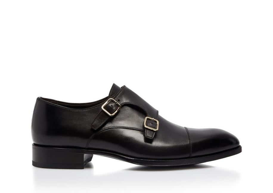 BURNISHED ELKAN DOUBLE MONK STRAPS A fullsize