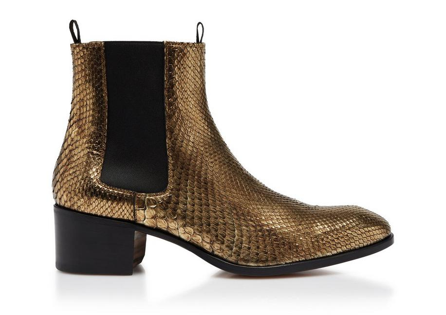 METALLIC PYTHON WILDE ANKLE BOOTS A fullsize