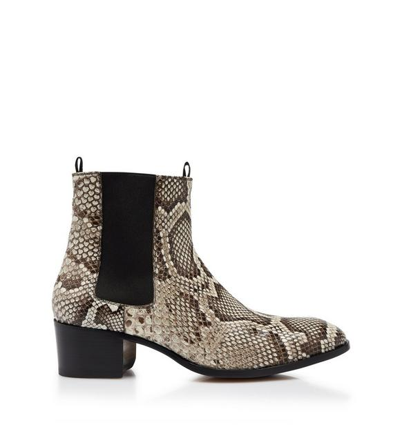 PYTHON WILDE ANKLE BOOTS A fullsize