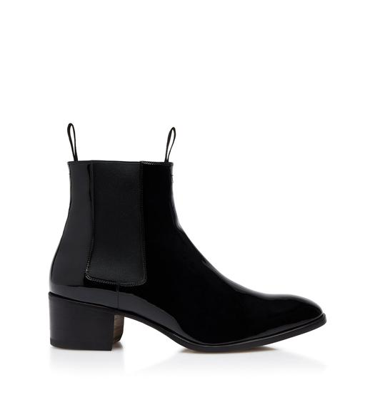 PATENT LEATHER WILDE ANKLE BOOTS