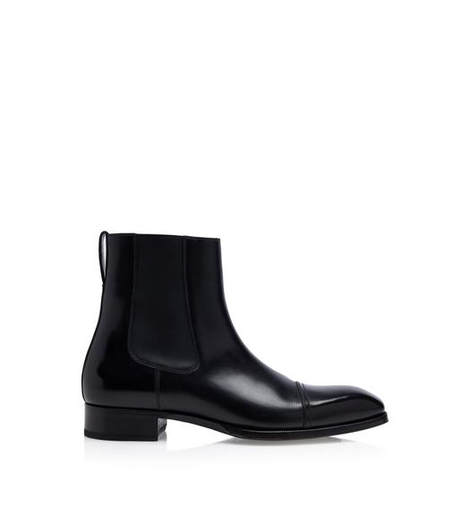 ELKAN LEATHER CHELSEA BOOTS
