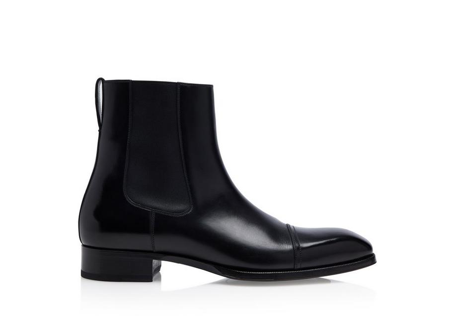 ELKAN LEATHER CHELSEA BOOTS A fullsize