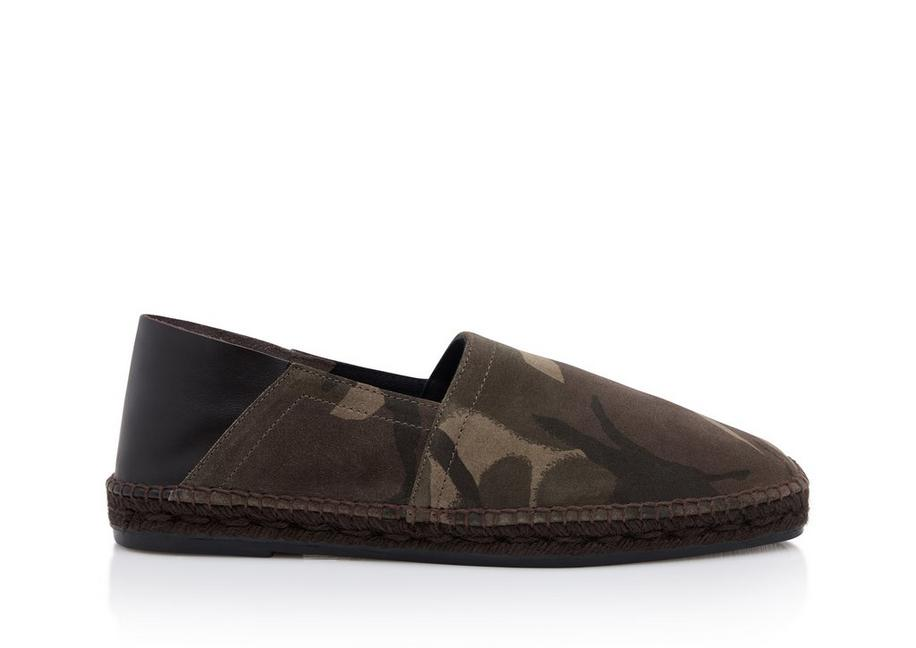 BARNES CAMOUFLAGE AND LEATHER ESPADRILLES A fullsize