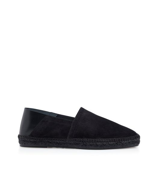 BARNES SUEDE AND LEATHER ESPADRILLES
