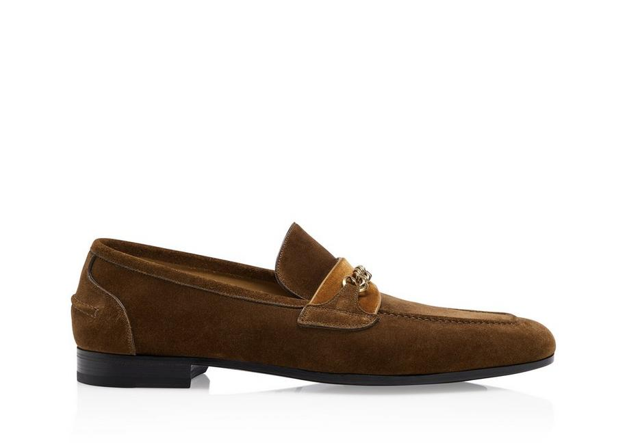 SUEDE WILTON CHAIN LOAFERS A fullsize