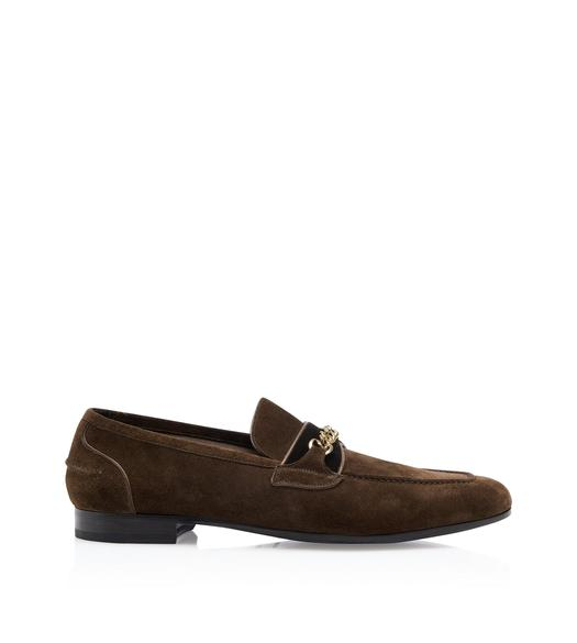SUEDE WILTON CHAIN LOAFERS