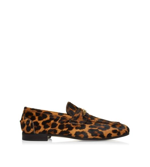 LEOPARD WILTON CHAIN LOAFERS