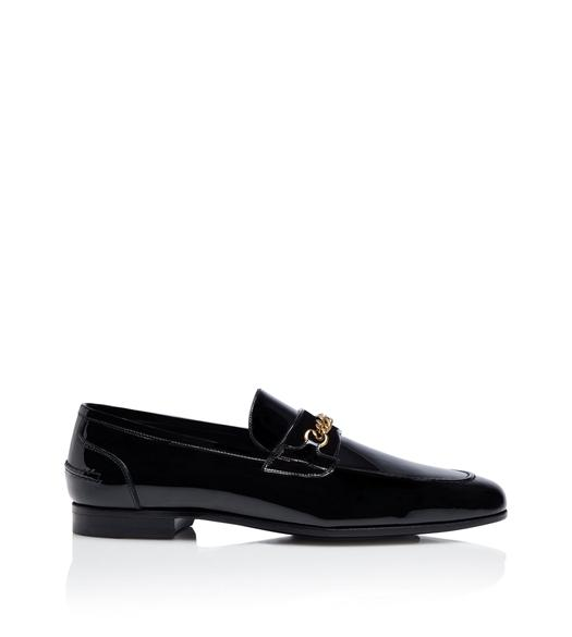 PATENT WILTON CHAIN LOAFER