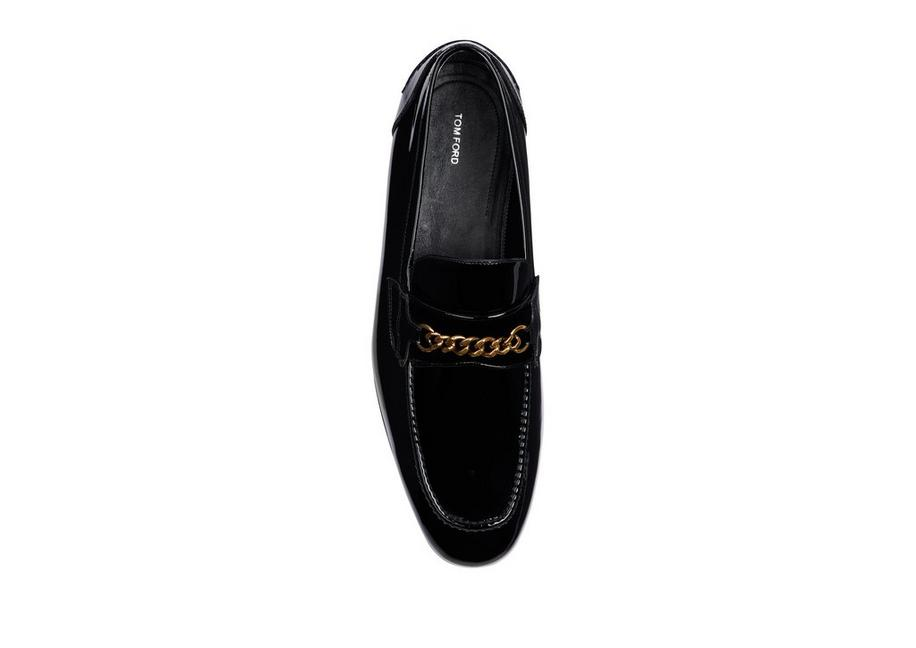52be614b9891 Tom Ford PATENT WILTON CHAIN LOAFER - Men