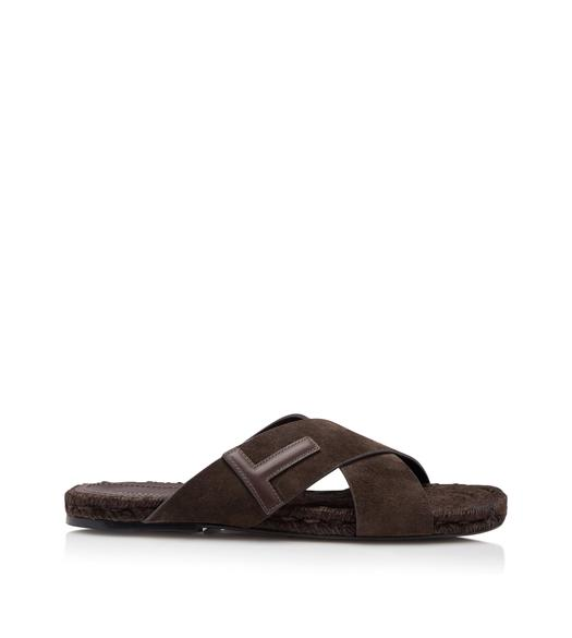 SUEDE GRAFTON T SANDALS