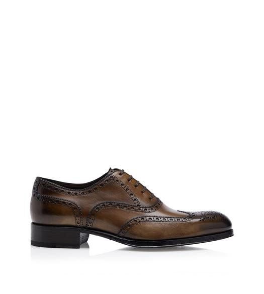 BURNISHED EDGAR LACE UP BROGUE