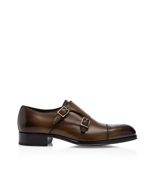 EDGAR HALF BROGUE DOUBLE MONKSTRAP