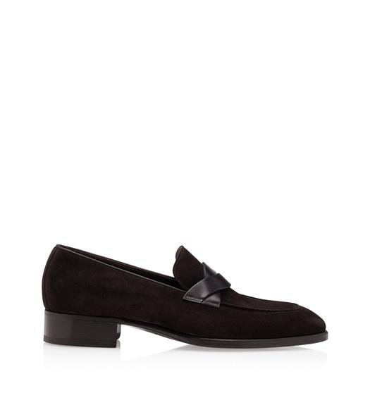 SUEDE ELKAN TWISTED BAND LOAFERS