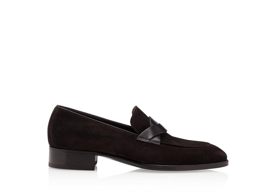 SUEDE ELKAN TWISTED BAND LOAFERS A fullsize