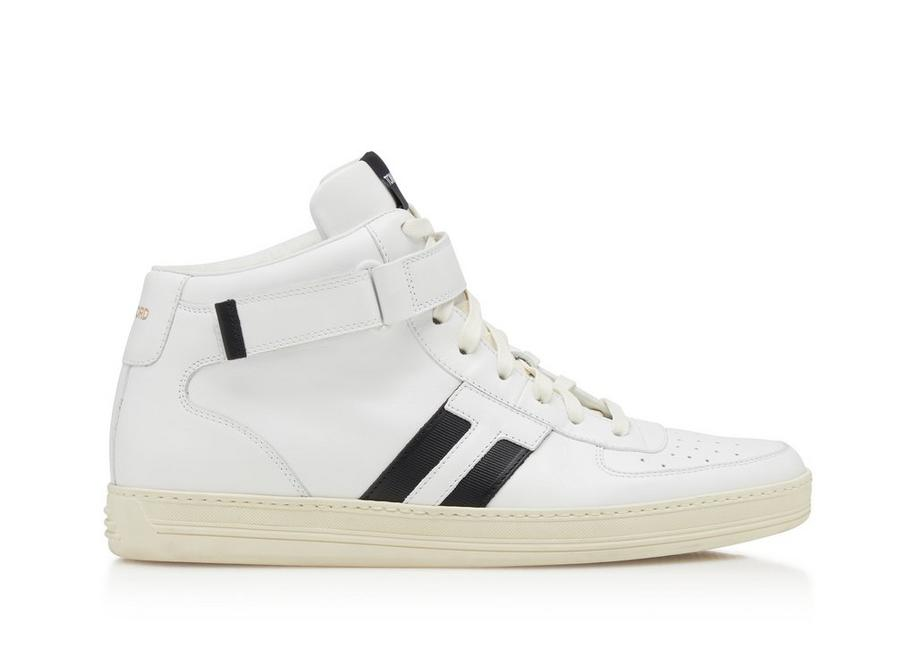 RADCLIFFE LEATHER HIGH TOP SNEAKERS A fullsize