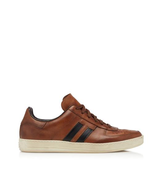 RADCLIFFE BURNISHED LEATHER SNEAKERS