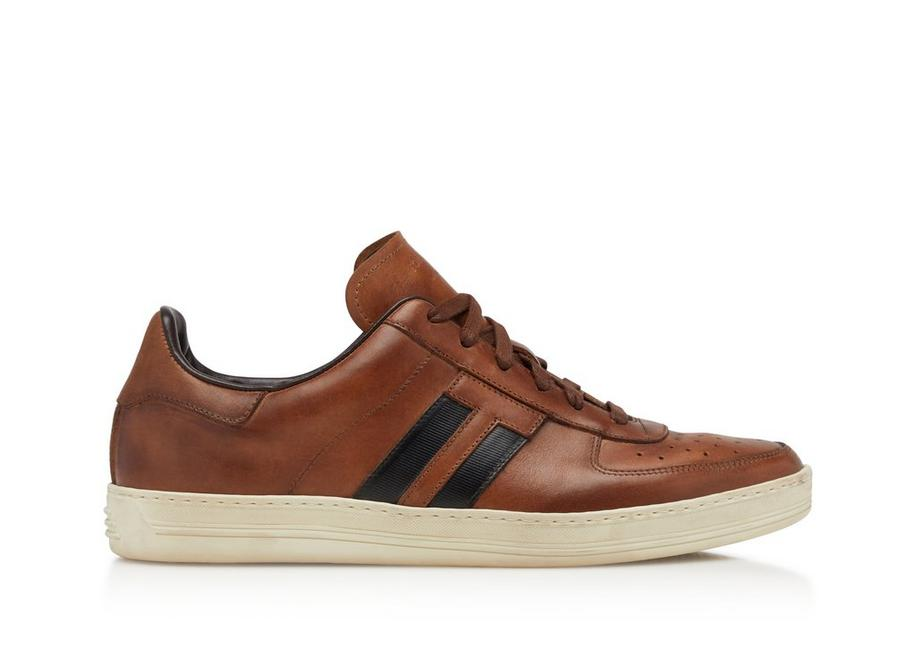 BURNISHED LEATHER RADCLIFFE SNEAKERS A fullsize
