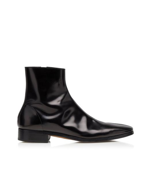 PATENT LEATHER MIDLANDS ZIP BOOTS