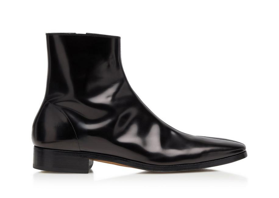 PATENT LEATHER MIDLANDS ZIP BOOTS A fullsize