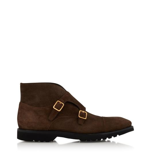 SUEDE KENSINGTON DOUBLE MONKSTRAP BOOT