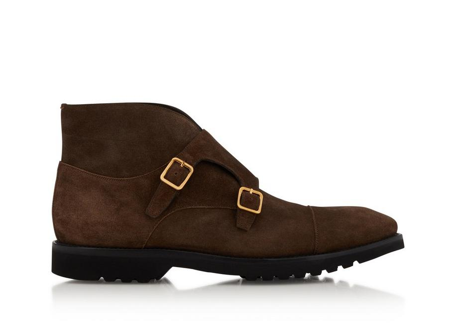 SUEDE KENSINGTON DOUBLE MONKSTRAP BOOT A fullsize