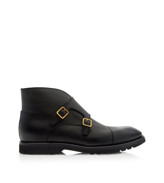 KENSINGTON RUBBER SOLE DOUBLE MONKSTRAP BOOT