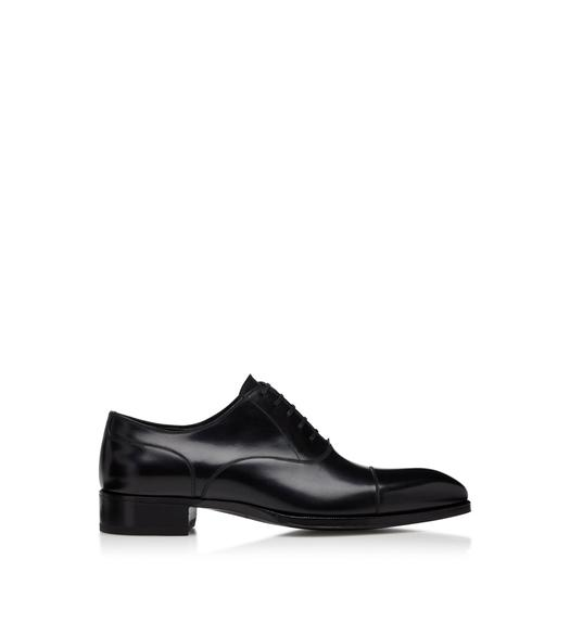 SMOOTH LEATHER ELKAN CAP TOE LACE UPS