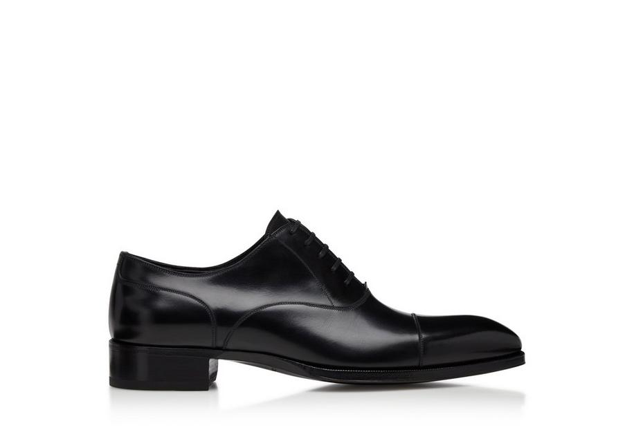 SMOOTH LEATHER ELKAN CAP TOE LACE UPS A fullsize
