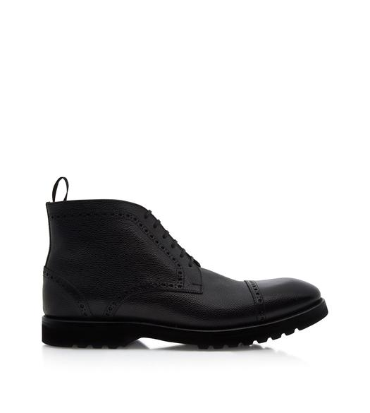 KENSINGTON SEMI BROGUE LACE UP BOOTS