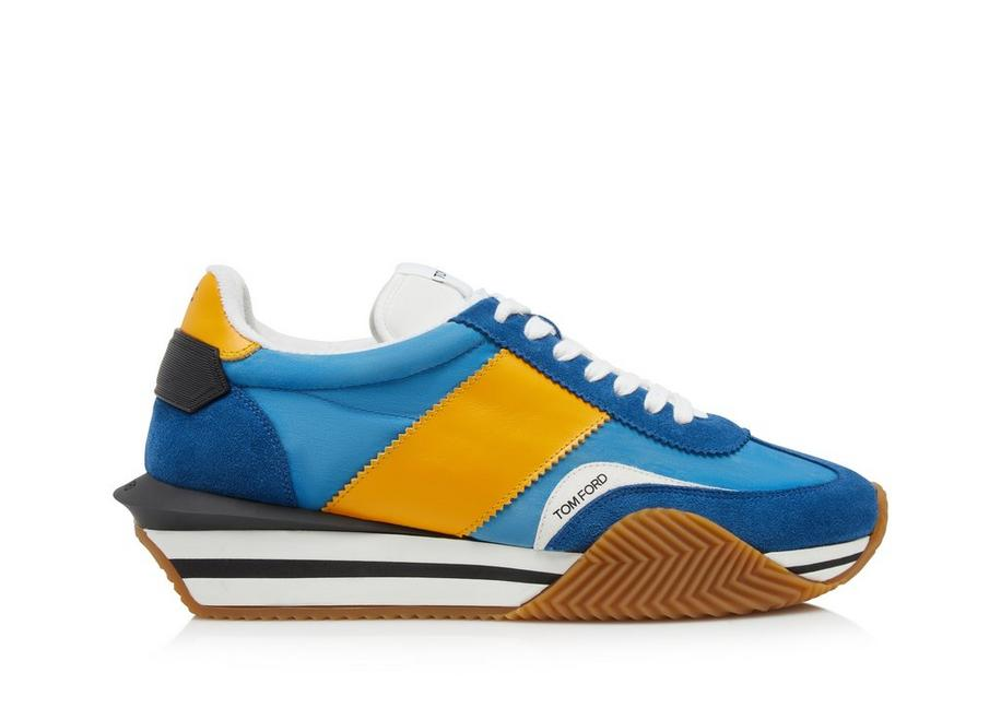 SUEDE AND NYLON JAMES SNEAKER A fullsize
