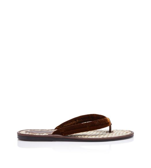 VELVET AND RAFIA BRIGHTON SANDAL