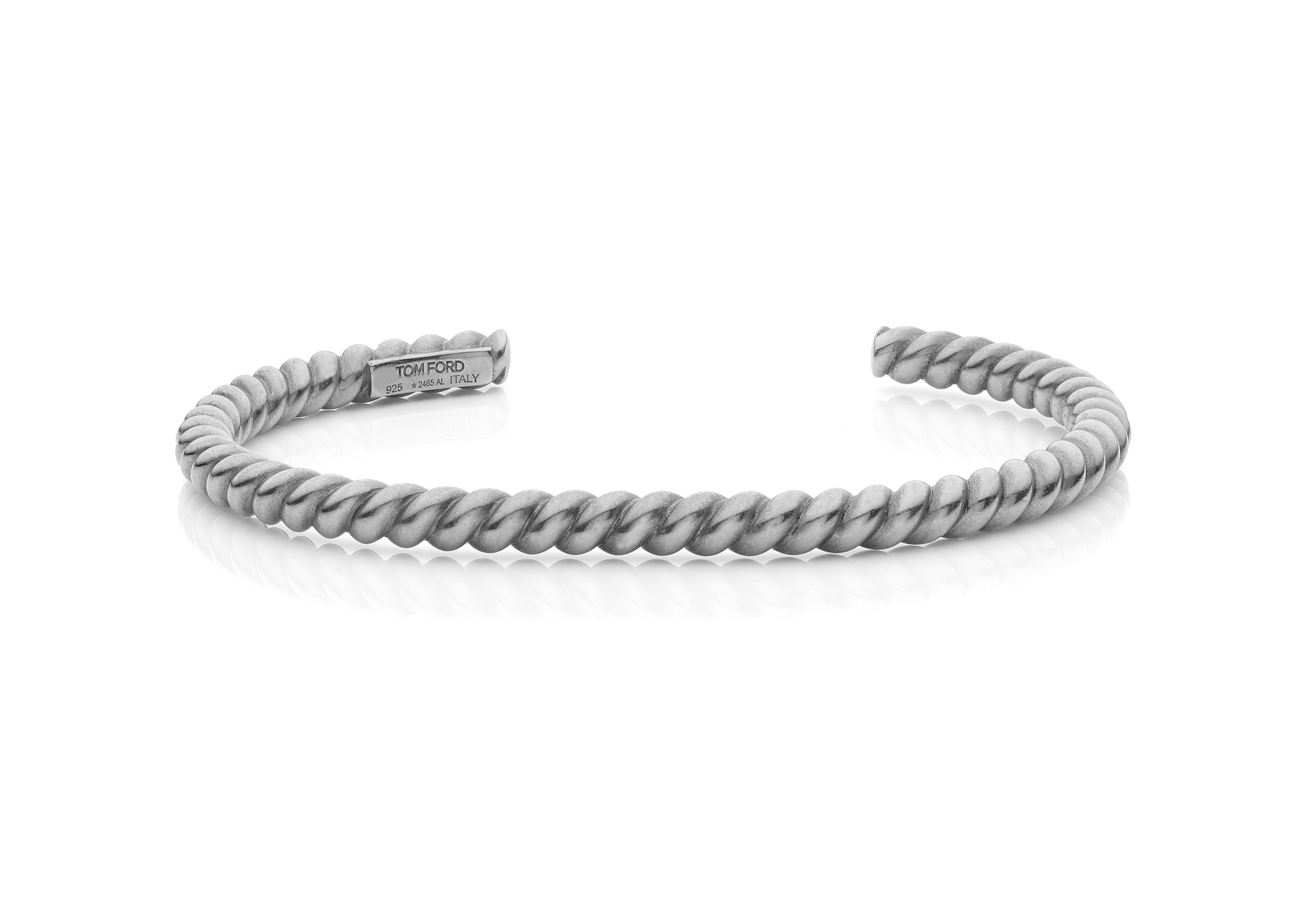 SLIM TWISTED BRACELET A thumbnail