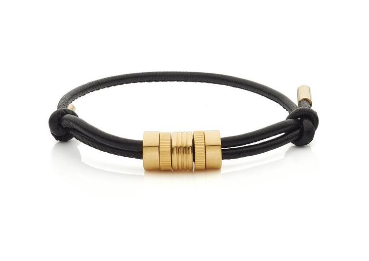MULTI RING LEATHER BRACELET A fullsize
