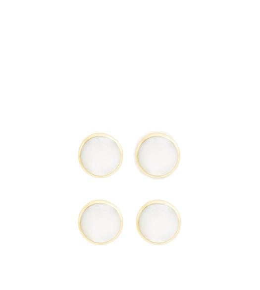 MOTHER OF PEARL ROUND STUDS