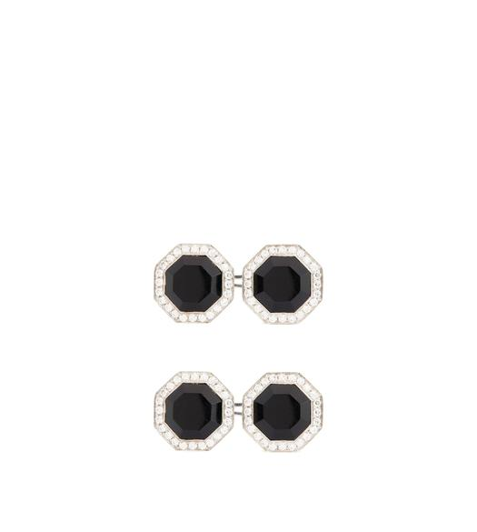 DIAMOND ONYX OCTAGON CUFFLINKS
