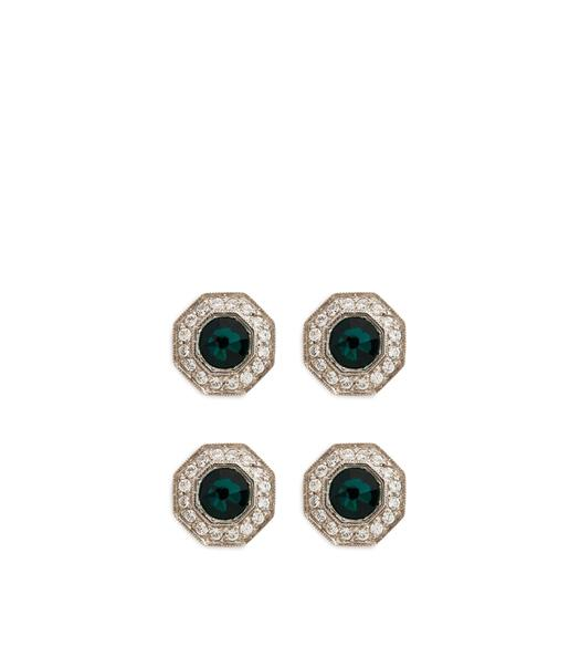 DIAMOND OCTAGON STUDS