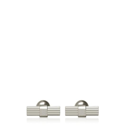 STRIPED T CUFFLINKS