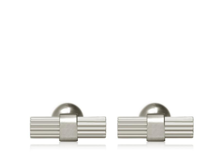 STRIPED T CUFFLINKS A fullsize