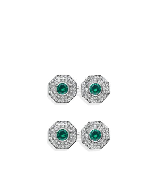 OCTAGON DIAMOND CUFFLINKS