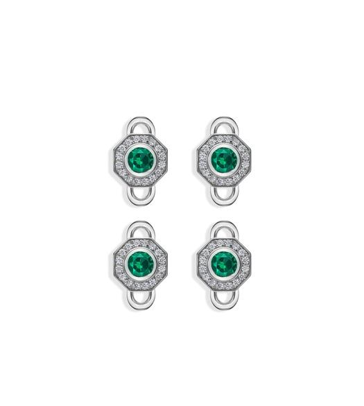 OCTAGON DIAMOND STUDS